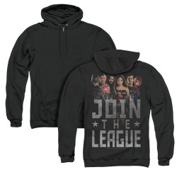 Image for Justice League Movie Zip Up Back Print Hoodie - Join the League