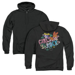 Image for The Powerpuff Girls Zip Up Back Print Hoodie - Girls Rock