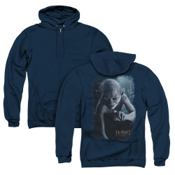 Image for The Hobbit Zip Up Back Print Hoodie - Gollum Poster