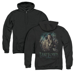 Image for The Hobbit Zip Up Back Print Hoodie - Protector