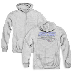 Image for Star Trek the Next Generation Zip Up Back Print Hoodie - Distressed