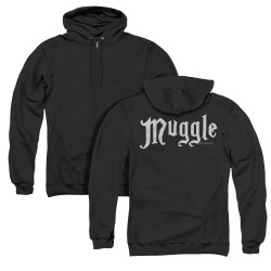 Image for Harry Potter Zip Up Back Print Hoodie - Muggles