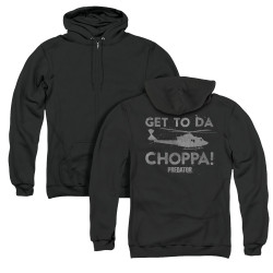 Image for Predator Zip Up Back Print Hoodie - Choppa