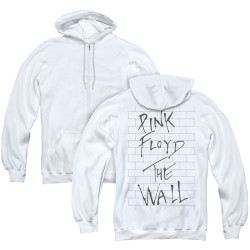 Image for Roger Waters Zip Up Back Print Hoodie - the Wall on White