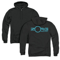 Image for The Fifth Element Zip Up Back Print Hoodie - Zorg Logo