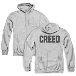 Image for Creed Zip Up Back Print Hoodie - Block Logo