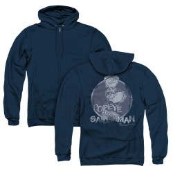 Image for Popeye the Sailor Zip Up Back Print Hoodie - The Original Sailorman