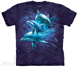 Image for The Mountain T-Shirt - Dolphin Collage