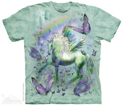 Image for The Mountain T-Shirt - Unicorn & Butterflies