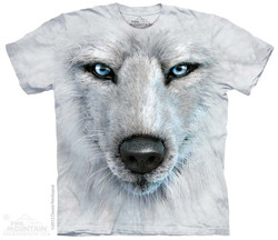 Image for The Mountain T-Shirt - White Wolf Face