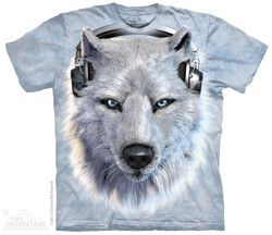 Image for The Mountain T-Shirt - White Wolf DJ