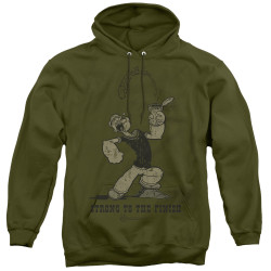 Image for Popeye the Sailor Hoodie - Strong