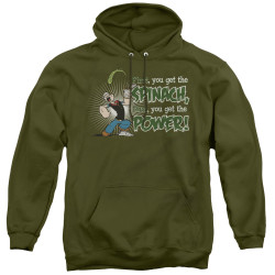Image for Popeye the Sailor Hoodie - Spinach Power