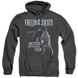 Image for Falling Skies Heather Hoodie - Battle or Become