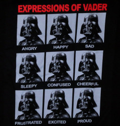 Image Closeup for Star Wars T-Shirt - Expressions of Vader