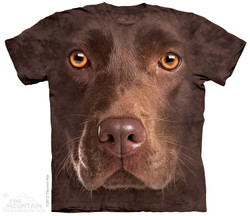 Image for The Mountain T-Shirt - Chocolate Lab Face