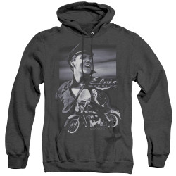 Image for Elvis Heather Hoodie - Motorcycle