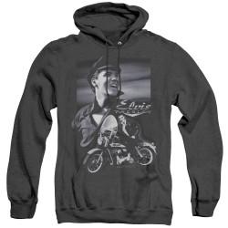 Image for Elvis Heather Hoodie - Motorcycle