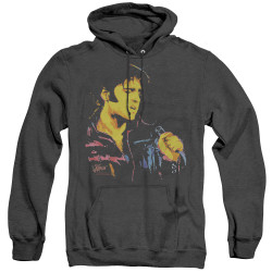 Image for Elvis Heather Hoodie - Neon Elvis