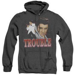 Image for Elvis Heather Hoodie - Trouble Stare