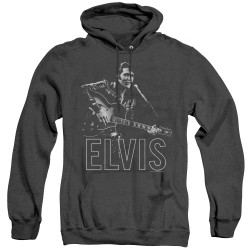 Image for Elvis Heather Hoodie - Guitar in Hand