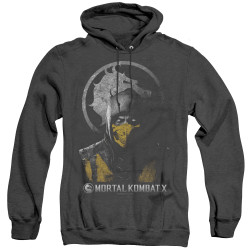 Image for Mortal Kombat X Heather Hoodie - Scorpion Bust