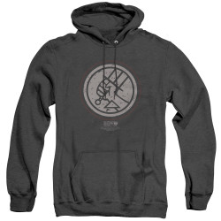 Image for Hellboy II Heather Hoodie - Mignola Style Logo