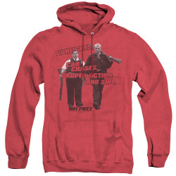 Image for Hot Fuzz Heather Hoodie - All in a Day's Work