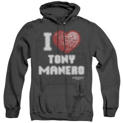 Image for Saturday Night Fever Heather Hoodie - I Heart Tony