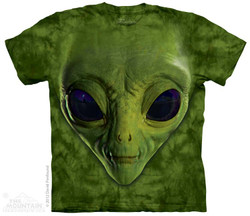 Image for The Mountain T-Shirt - Green Alien Face