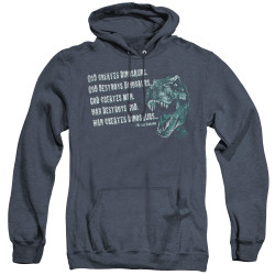 Image for Jurassic Park Heather Hoodie - God Creates Dinosaurs