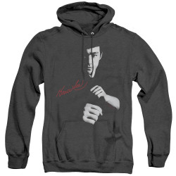 Image for Bruce Lee Heather Hoodie - The Dragon Awaits