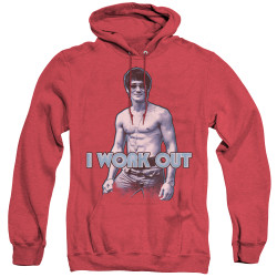 Image for Bruce Lee Heather Hoodie - Lee Works Out
