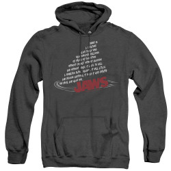 Image for Jaws Heather Hoodie - Dorsal Text