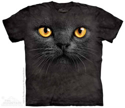 Image for The Mountain T-Shirt - Big Face Black Cat