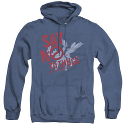 Image for Superman Heather Hoodie - Say No To Thugs