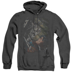 Image for Superman Heather Hoodie - Epic Battle