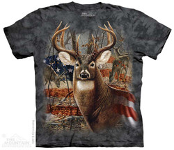 Image for The Mountain T-Shirt - Patriotic Buck