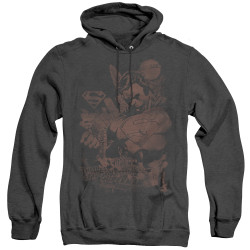 Image for Superman Heather Hoodie - Somber Power