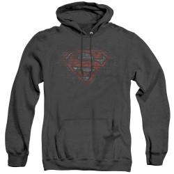 Image for Superman Heather Hoodie - Brick S