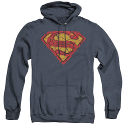Image for Superman Heather Hoodie - Shattered Shield