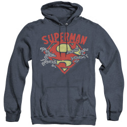Image for Superman Heather Hoodie - Chain Breaking