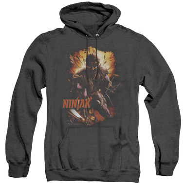 Image for Ninjak Heather Hoodie - Fiery