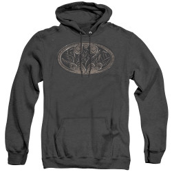 Image for Batman Heather Hoodie - Bio Mech Bat Shield