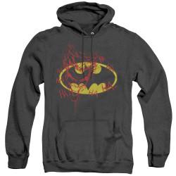Image for Batman Heather Hoodie - Joker Graffiti