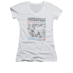 Image for Woodstock Girls V Neck T-Shirt - Rider