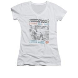 Image for Woodstock Girls V Neck T-Shirt - Rider
