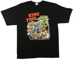 Image Closeup for Rat Fink King Fink T-Shirt