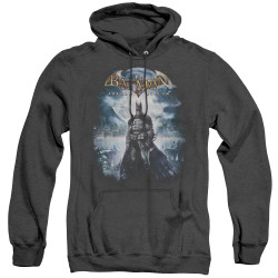 Image for Batman Arkham Asylum Heather Hoodie - Game Cover