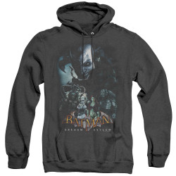 Image for Batman Arkham Asylum Heather Hoodie - Five Against One